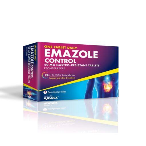EMAZOLE CONTROL 20MG TABLETS ESOMEPRAZOLE (7)