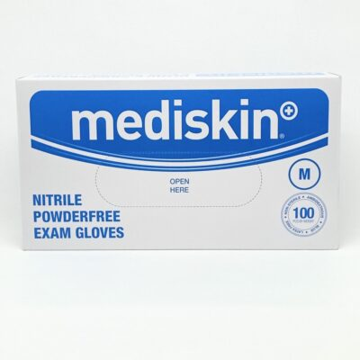MEDISKIN NITRILE GLOVES BLUE MEDIUM (100)