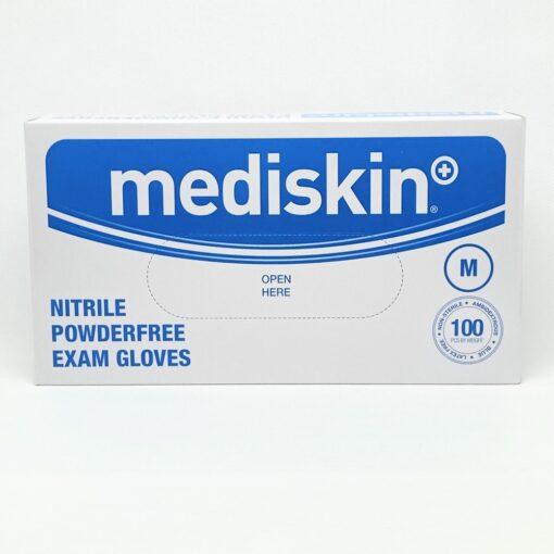 MEDISKIN NITRILE GLOVES BLUE MEDIUM (100)