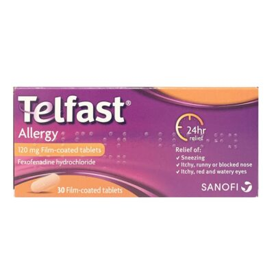 TELFAST ALLERGY 120MG TABLETS FEXOFENADINE (30)